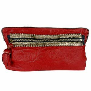 Chloé Crystal Embellished Lambskin Leather Pouch